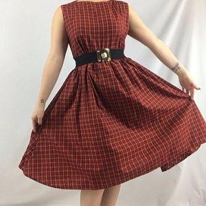Dresses & Skirts - Vintage Tartan Print Dress